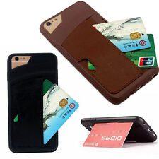 Shockproof Leather Credit Card Holder Wallet Case Cover for iPhone 6/6s 6s Plus