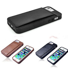 Fashion Soft ID Card Holder Leather Wallet Flip TPU Case Cover For iPhone 5/5s