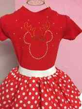 Baby Girl Tots Christmas Minnie Mouse Reindeer Angel Fancy Dress Party Costume