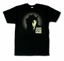 """JOHNNY CASH """"RAYS"""" BLACK SLIM FIT T-SHIRT NEW OFFICIAL ADULT BAND MUSIC"""