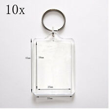10x 20x Brand New Clear Acrylic Plastic Blank Keyrings Photo Keyrings Wholesale