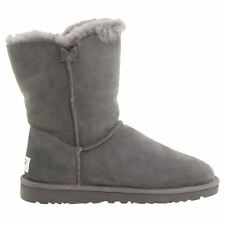 Ugg Australia W Bailey Button Grey Sheepskin Womens Boots