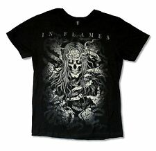 """IN FLAMES """"HAIRY SKELETON"""" BLACK T SHIRT NEW OFFICIAL ADULT BAND MUSIC"""