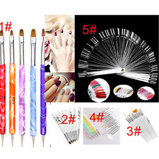 Women GEL & Acrylic Nail Art Tips Design Dotting Painting Pen Polish Brush Set K