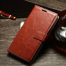 Luxury Glossy Leather Case Card Flip Wallet Stand Cover For Sony Xperia M4 Aqua