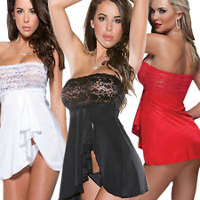 Sexy Floral Sheer Lingerie Nightwear Dress Underwear Babydoll Sleepwear G-String