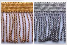 Essential Trimmings Metallic Bullion Furnishing Fringe Trimming - per 12.5 me...