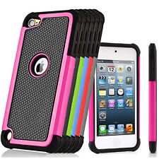 Hybrid Rugged Rubber Hard Case Protective Cover For Apple iPod Touch 5th 6th Gen