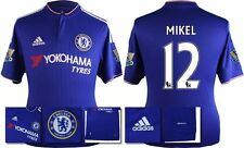 *15 / 16 - ADIDAS ; CHELSEA HOME SHIRT SS + PATCHES / MIKEL 12 = KIDS SIZE*