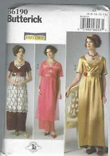 BUTTERICK SEWING PATTERN MISSES' EDWARDIAN DOWNTON ABBEY DRESS 6 - 22 B6190