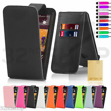 Leather Flip Case Cover For HTC One X + Free Screen Protector + Stylus + Cloth