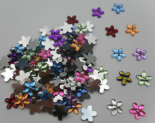 100 x 10mm Rhinestone Flat Back Flower Gems | Bobityboo