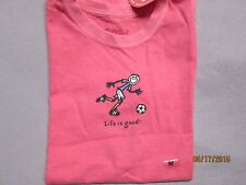 LIFE IS GOOD Girl's Lean SoccerTee Shirt (M,L) NWT