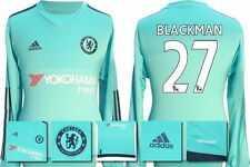 *15 / 16 - ADIDAS ; CHELSEA HOME GK SHIRT LS / BLACKMAN 27 = KIDS SIZE*