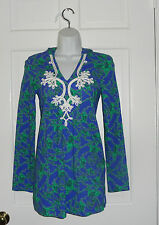 NWT LILLY PULITZER IRIS BLUE LOOPY NOELLE TUNIC TOP XS