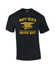 Navy Seals Never Quit Graphic T-Shirt