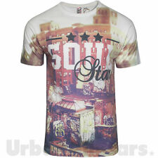 Mens Soul Star Photo Print Cotton T-shirt Graphic Printed Design Top City Tee