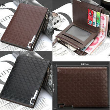 Mens Leather Business Bifold Wallet Credit/ID Card Holder Slim Coin Purse US