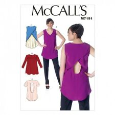 McCalls Ladies Easy Sewing Pattern 7191 Pullover Tops (McCalls-7191-M)