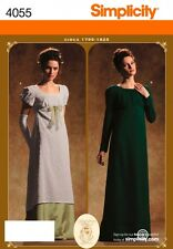 Simplicity Ladies Sewing Pattern 4055 17951825 Historical Period Dress Costum...