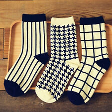 Unisex Casual Cotton Plaid Design Socks Fashion Dress match Mens Women's Socks