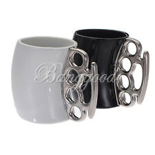 Knuckle Duster Mug Fisticup Finger Handle Brass Ring Fist Milk Coffee Cup Gift