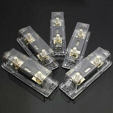 Gold Plated Fuse Holder ANL Free Fuse 80 100 150 200 250A 0 Gauge Cable Inline