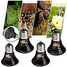 220V-240V 25/50/75/100W Ceramic Emitter Heated Pet Reptile Breeding Light Black