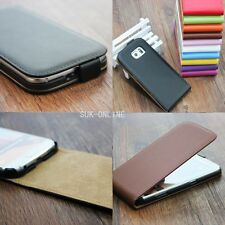 For Sony Xperia Luxury Genuine Real Leather Case Cover Glossy Magnetic Flip