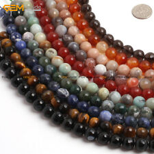 """Natural Stone Faceted Gem Beads For Jewelry Making 15"""" Wholesale Free Shipping"""