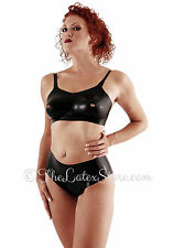 BLACK Latex Rubber Peep Hole Bra with Molded Cups  / Unisex / 103a