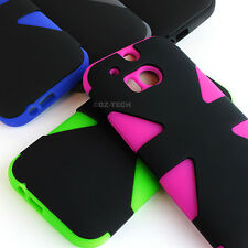 For HTC One M8 / One 2 (2014) Dynamic Tuff Impact Armor Hybrid Hard Case Cover