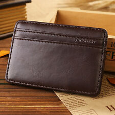 Mens Wallet ID Credit Magic Leather Chic Money Clip Slim Card Holder Case