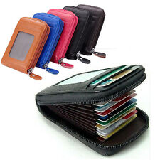 Woman Men ID Credit Cards Holder Organizer Purse Mini Top Leather Vogue Wallet
