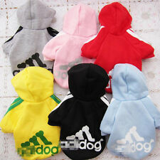 New Dog Coat Clothes Fleece Pet Puppy Hoodie Sweater Costumes M-XL SALE PD005