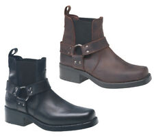 Gringos Mens Cowboy Leather Pull On Ankle Boots Size 6-12
