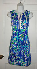 NWT LILLY PULITZER BLUE CRUSH BAMBOOM PENELOPE SHIFT DRESS 6 8 10 $198