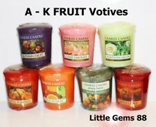 YANKEE CANDLE VOTIVE ** A - K ** FRUIT SCENTS ** 15 HOUR CANDLE ~ YOU PICK
