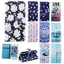 Card Clip Wallet Flip Leather Stand Soft Skin Case Cover For Apple iPhone 5G 5S