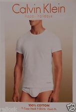 3 CALVIN KLEIN 100% COTTON WHITE CREW NECK T SHIRTS UNDERSHIRTS S M L XL XXL NIP