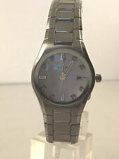 Women's Bulova 96P108 Stainless Steel With Diamond Accented MOP Dial Watch