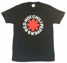 "RED HOT CHILI PEPPERS ""ASTERISK LOGO"" BLACK SLIM FIT T-SHIRT NEW OFFICIAL ADULT"