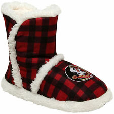 Women's Florida State Seminoles Flannel Sherpa Boot Slippers - College