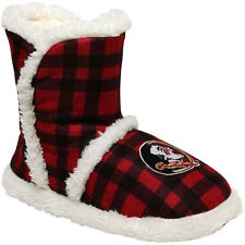 Florida State Seminoles Women's Flannel Sherpa Boot Slippers - College