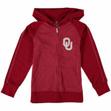 Oklahoma Sooners Wes & Willy Youth Full-Zip Heathered Hoodie - Crimson - College