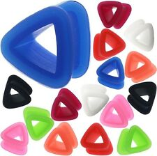 1 Pairs Triangle Silicone Tunnels Double Flared Ear Plug Stretching Eyelets Hot