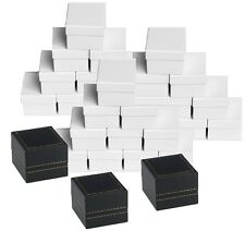 WHOLESALE  HIGH QUALITY LEATHERETTE RING BOXES BLACK RING BOX JEWELRY GIFT BOX
