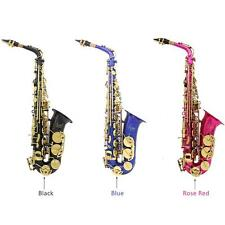 LADE Brass Engraved Eb E-Flat Alto Saxophone Sax Wind Instrument with Case S68M
