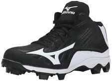 Mizuno Advanced Franchise 8 MID YOUTH Baseball Molded Cleats NIB Black/White