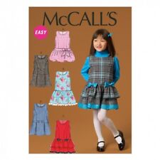 McCalls Girls Easy Sewing Pattern 7008 Pinafore Dresses (McCalls-7008-M)